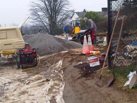 2013-02-01 cubic yards of pea gravel from Salmon Bay