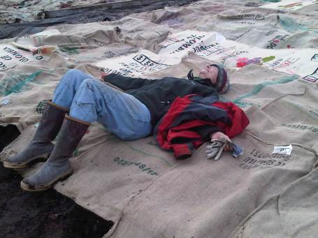 When you volunteer you get to rest...